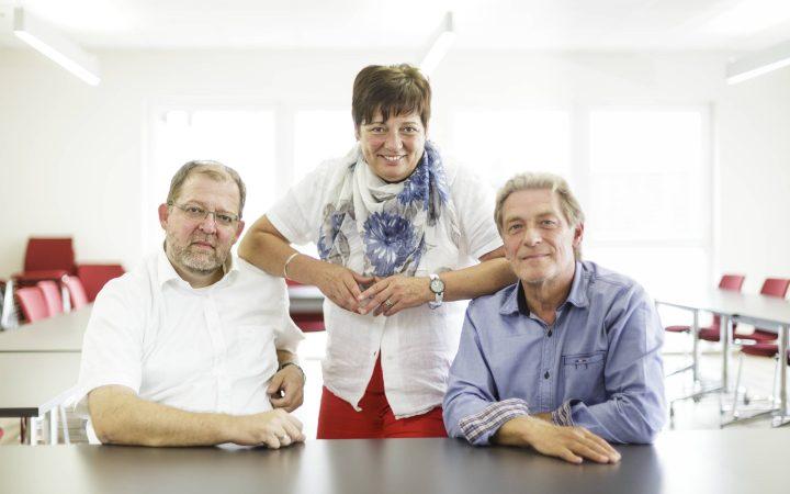 Führten das Familienunternehmen bis Januar 2017 zu dritt: Claudius Hasenau, Petra Hasenau-Rössing (†) und Hans-Werner Rössing (von links).